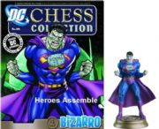 DC Chess Figurine Collection #44 Bizarro Black Pawn Justice League Eaglemoss